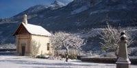 chapelle en hiver